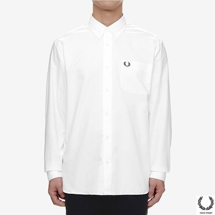 White Fred Perry Classic L//S Oxford Shirt