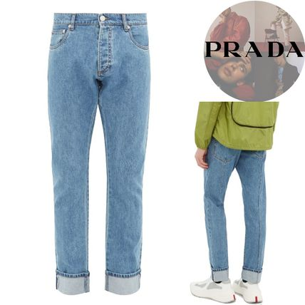 YUNY Men Jeans Casual Leisure Straight Denim Pants Mid Length Short Blue XL