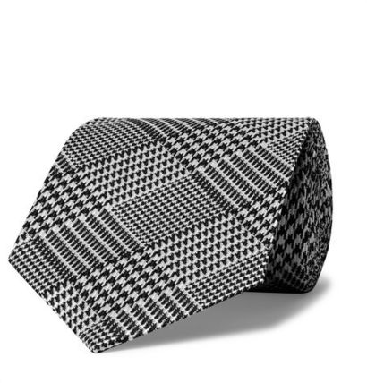 New TOM FORD Patterned Black Tie In Silk