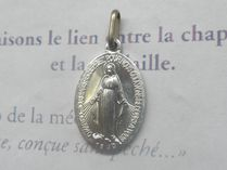Paris Medaille Miraculeuse(奇跡のメダイ) ネックレス・ペンダント 梨花さん着♪パリ不思議のメダイ☆銀色