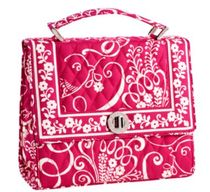 Julia Handbag in Twirly Birds Pink / ハンドバッグ