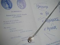 Paris Medaille Miraculeuse(奇跡のメダイ) ネックレス・チョーカー 不思議のメダイ*グレードUP銀(60cmロングチェーン付)