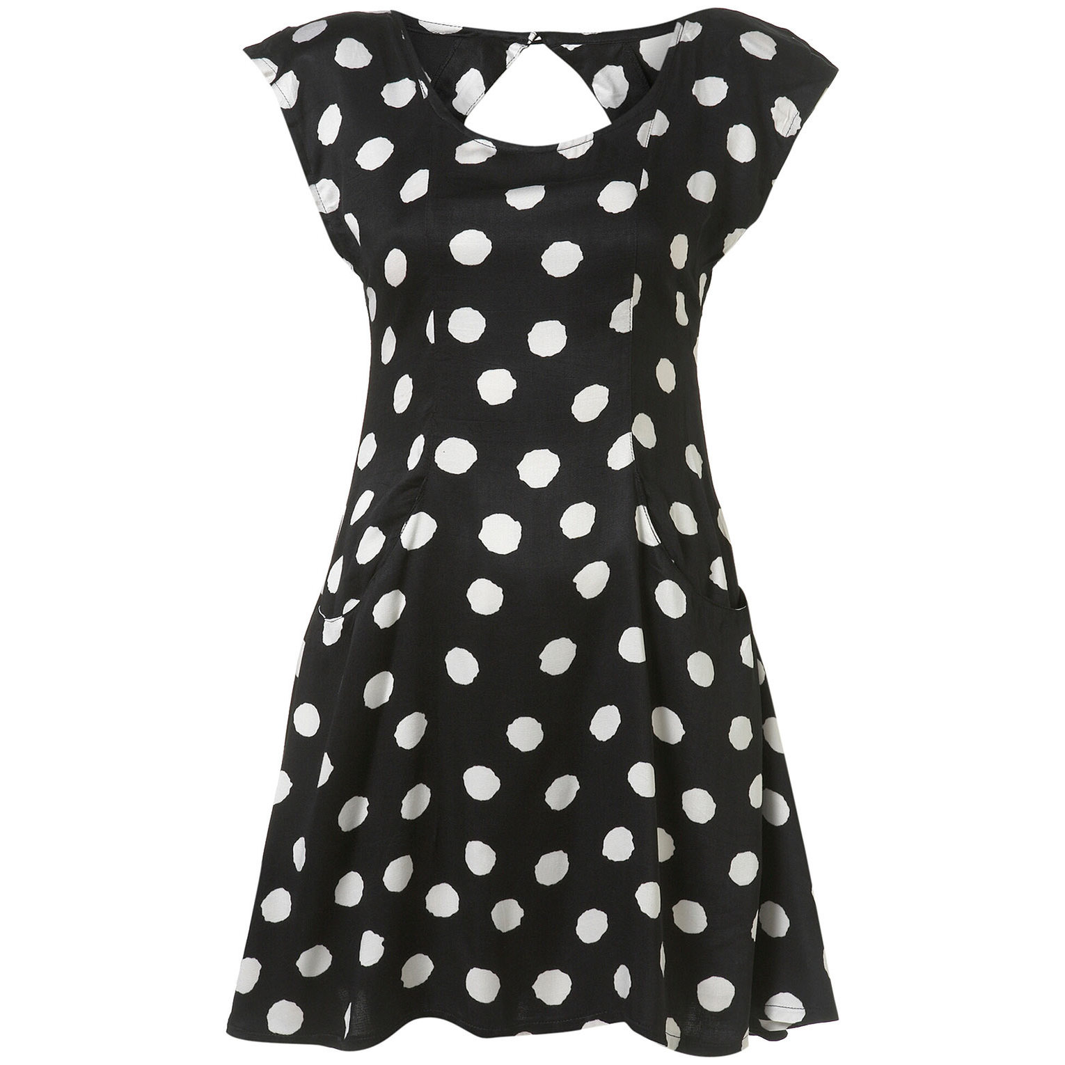 ★Motel★手持有(XS,S)ラスト!Patty Dress Black Big Ivory Dot