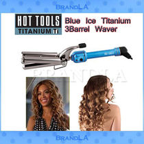 ★超COOL★【Hot Tools】Blue Ice Titanium 3Barrel Waver