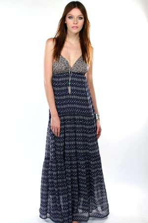"Blu Moon ★""Oh So Boho"" Dress in Nautical Aztec"