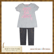 JUICY COUTURE(ジューシークチュール) キッズ用トップス JUICY COUTURE ボーダーTシャツ&スパッツ セットアップ