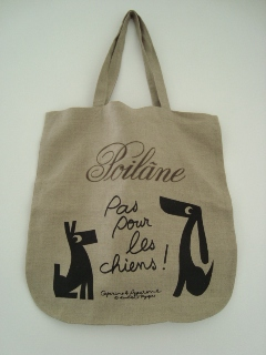 Poilane linen bag limited edition print