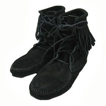 ★Nicole愛用!Minnetonka: Ankle Hi Boot-Black★