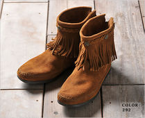 セレブ愛用★Minnetonka:Hi Top Back Zip Boot-Brown★