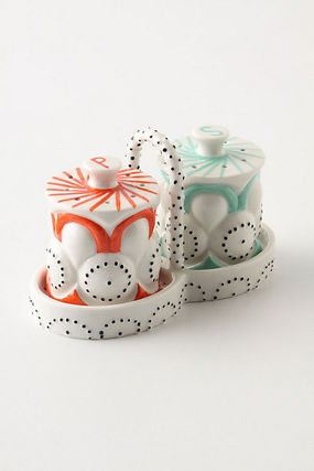 The remaining small Anthropologie salt and pepper set