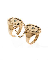 HOUSE OF HARLOW 1960(ハウスオブハーロウ1960) 指輪・リング 国内即発☆Double Metal Sunburst Ring with Pave / Gold