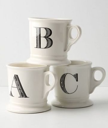 Anthropologie ☆ Monogrammed Mug マグカップ選べる4個