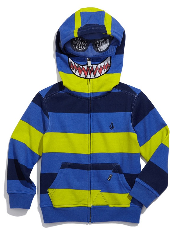 volcom fear ボルコム Rugby Stripe Mask Hoodie 4T 100