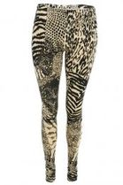 RELIGION/ Hand made Leggings(S/38)Vanila/Leopard