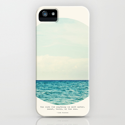 Society6 iPhone5用 Salt Water Cure 海 ケース カバー