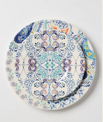 Anthropologie☆Swirled Symmetry お皿2枚セット