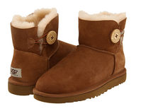 【返品可/お取寄】UGG australia Mini Bailey Button US6