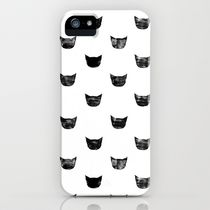 Society6 iPhone5用 Black Cat 猫 ハート ケース