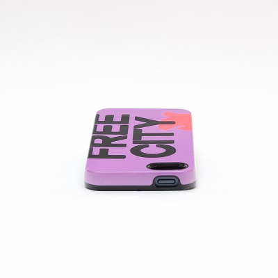 FreeCity iphone5 capsule Case  新作 Logo Purple