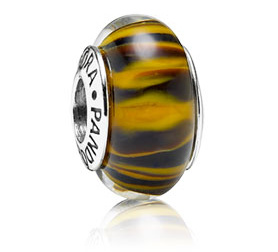 PANDORA パンドラ Animal Print Glass Charm Tiger 790940