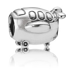 PANDORA パンドラ Airplane Travel Silver Charm 790561