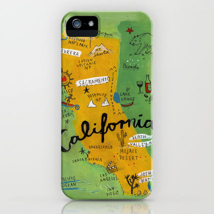 Society6 iPhone・スマホケース Society6 iPhone4/4S,5用 Postcard from California