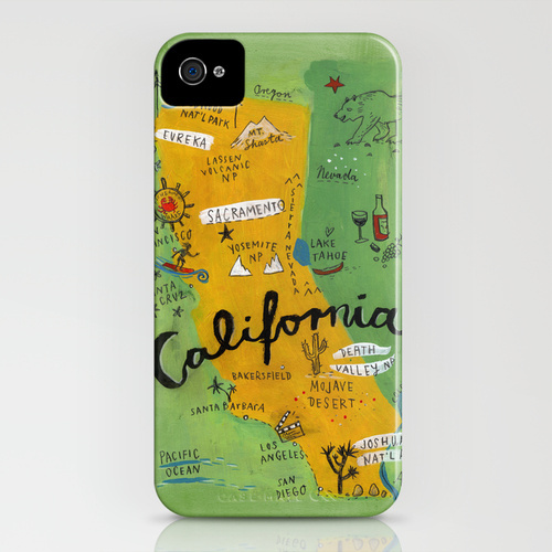 Society6 iPhone4/4S,5用 Postcard from California
