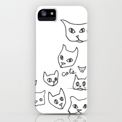 Society6 iPhone・スマホケース Society6 iPhone4/4S,5用 Cats Cat by Kelly Reynolds