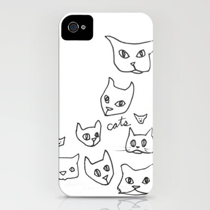 Society6 iPhone・スマホケース Society6 iPhone4/4S,5用 Cats Cat by Kelly Reynolds(3)