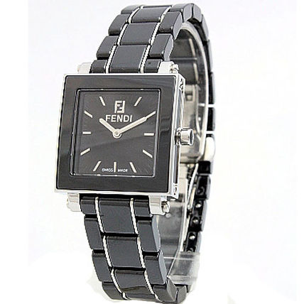 ★レア★Fendi Quadro Ceramic Ladies Quartz Watch - F621210