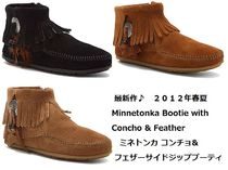 SALE!! 即発送 3色あり Minnetonka Concho/ Feather Bootie