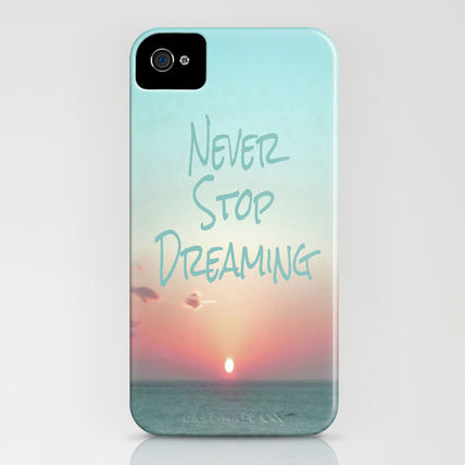 Society6 iPhone・スマホケース Society6 iPhone4/4S,5用 Never Stop Dreaming by Ally Coxon(3)