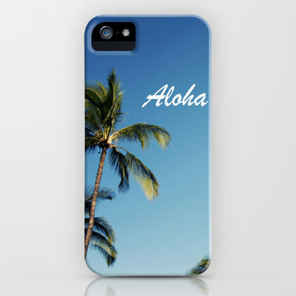 Society6 スマホケース・テックアクセサリー Society6 iPhone4/4S,5用 Aloha Palm Trees by Bree Madden