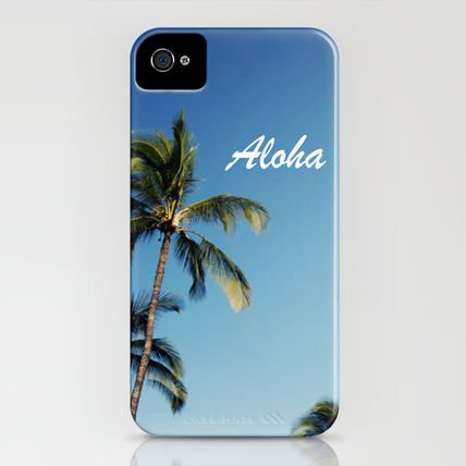 Society6 スマホケース・テックアクセサリー Society6 iPhone4/4S,5用 Aloha Palm Trees by Bree Madden(3)