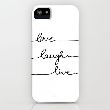 Society6 iPhone・スマホケース Society6 iPhone4/4S,5用 Love Laugh Live by Mareike B〓hmer