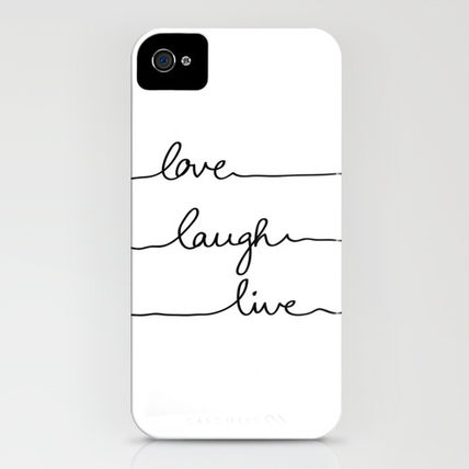 Society6 iPhone・スマホケース Society6 iPhone4/4S,5用 Love Laugh Live by Mareike B〓hmer(3)