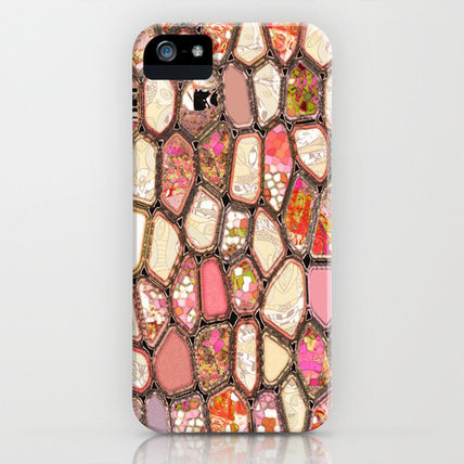 Society6 iPhone・スマホケース Society6 iPhone4/4S,5用 Cells in Pink by Ingrid Padilla