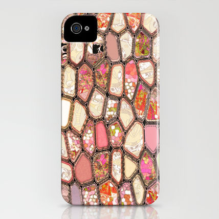 Society6 iPhone・スマホケース Society6 iPhone4/4S,5用 Cells in Pink by Ingrid Padilla(3)