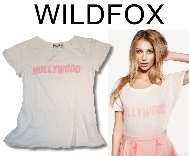 [WILDFOX]Left My Heart in Hollywood Hippy Crewneck Tシャツ