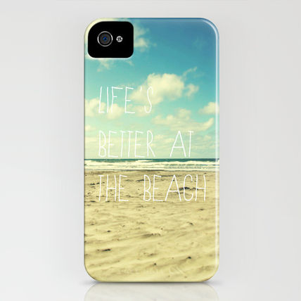 Society6 iPhone・スマホケース Society6 iPhone4/4S,5用 life's better at the beach(3)