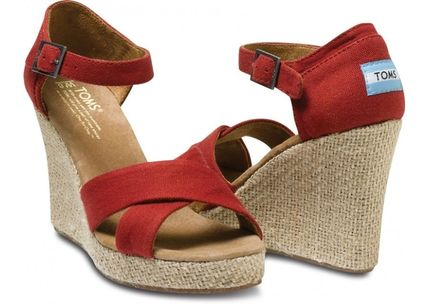 TOMS シューズ・サンダルその他 人気NO.1♪TOMS Strappy Wedges 単色3カラー(3)