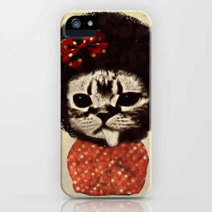 Society6 iPhone・スマホケース Society6 iPhone4/4S,5用 Cat (Pack-a-cat) by Zumzzet
