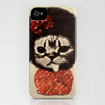 Society6 iPhone・スマホケース Society6 iPhone4/4S,5用 Cat (Pack-a-cat) by Zumzzet(3)