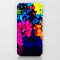 Society6 iPhone4/4S,5用 Neon Daisies