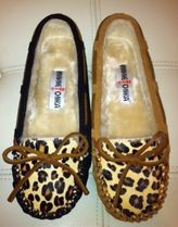 即発送新作!Minnetonka Leopard Cally Slipper モカシン