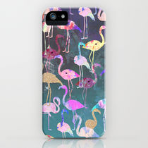 Society6 iPhone4/4S,5用 After Dark Flamingo Party