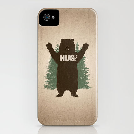 Society6 iPhone・スマホケース Society6 iPhone4/4S,5用 Bear Hug by Powerpig(3)