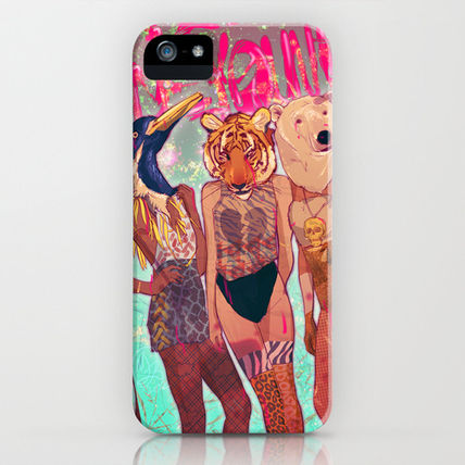 Society6 iPhone・スマホケース Society6 iPhone4/4S,5用 Die Young by Galvanise The Dog