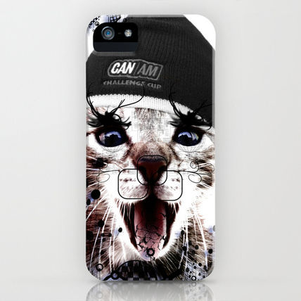 Society6 iPhone・スマホケース Society6 iPhone4/4S,5用 CRAZY CAT by Yume
