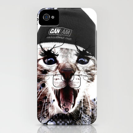 Society6 iPhone・スマホケース Society6 iPhone4/4S,5用 CRAZY CAT by Yume(3)